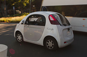 Google self-driving car Photo: Wikimedia Commons/ Michael Shick