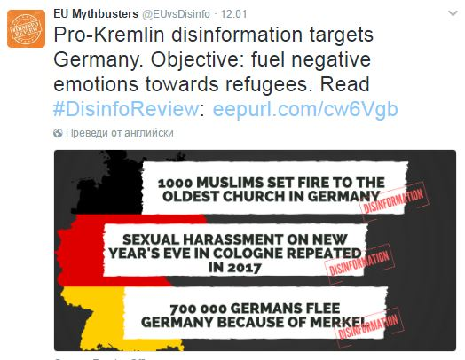 Screenshot: @EUvsDisinfo