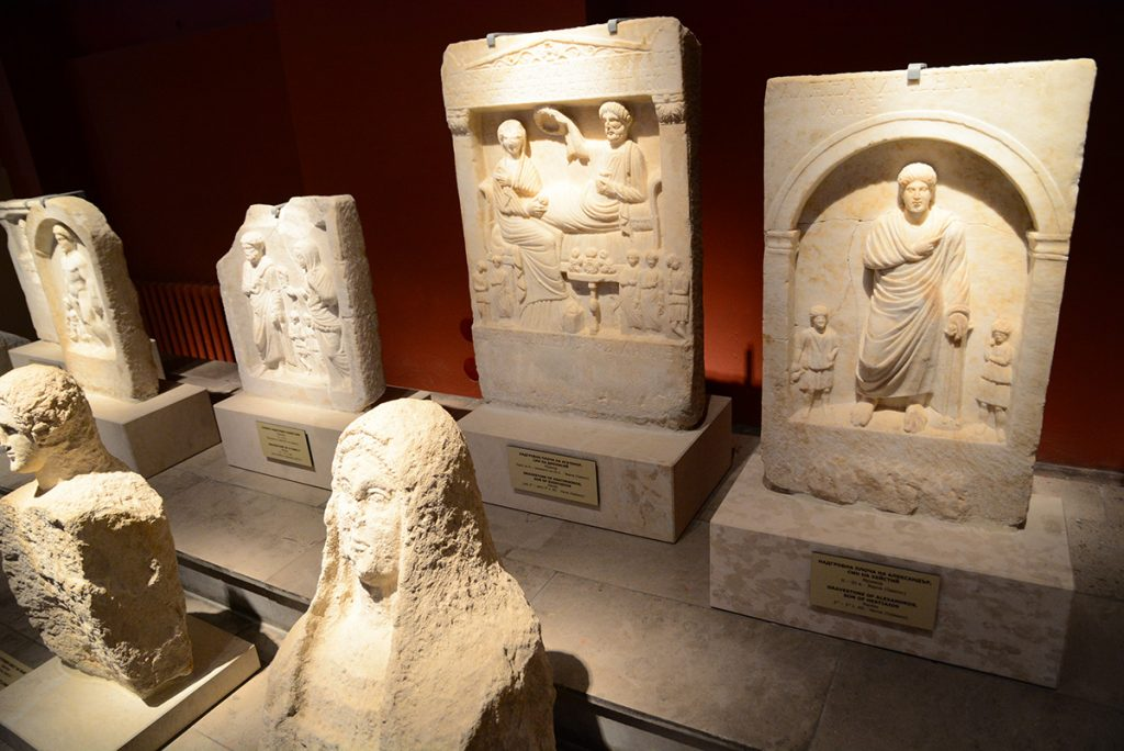 Roman funerary monuments in the Archaeological Museum of Varna