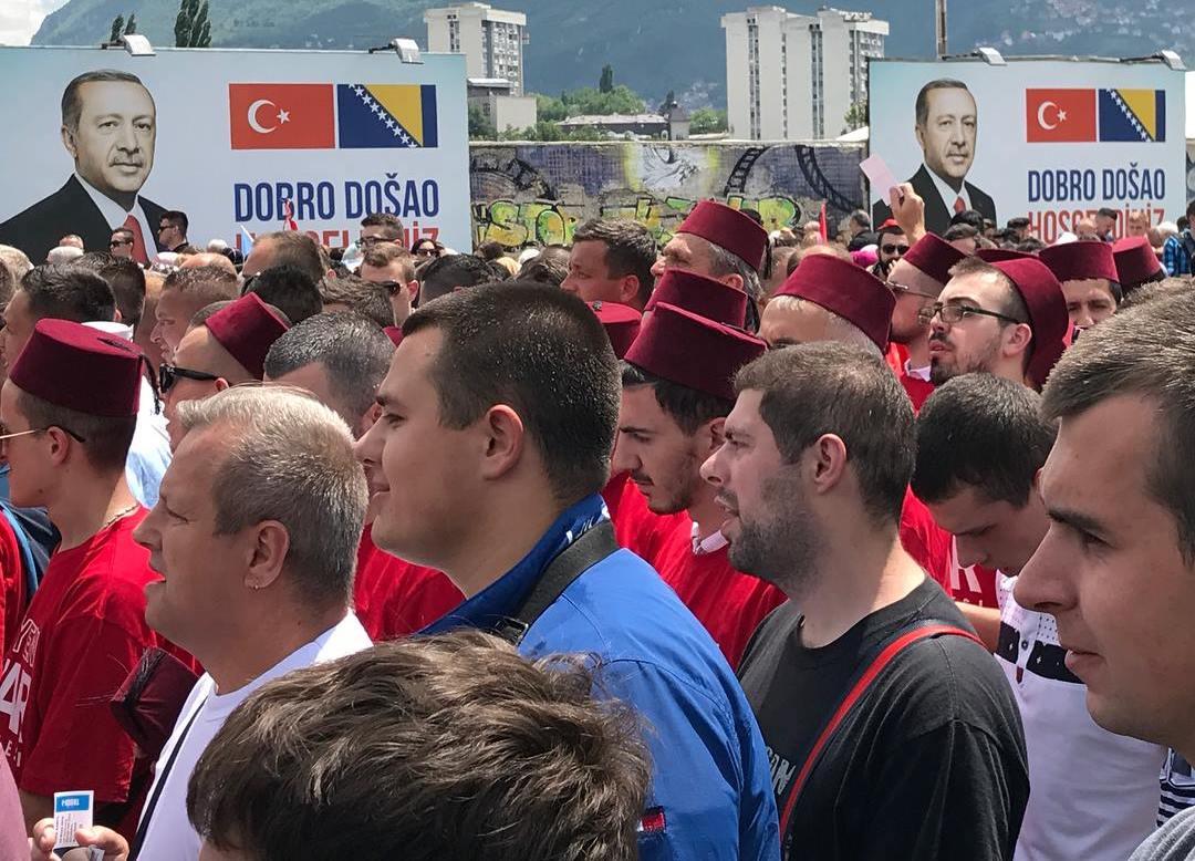 Erdogan supporters Sarajevo