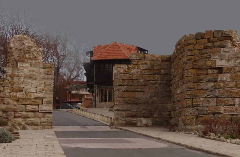 The western gate of the fortification