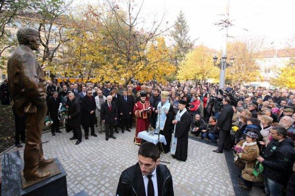Паметник на Георги Марков в София   Снимка: dnes.bg