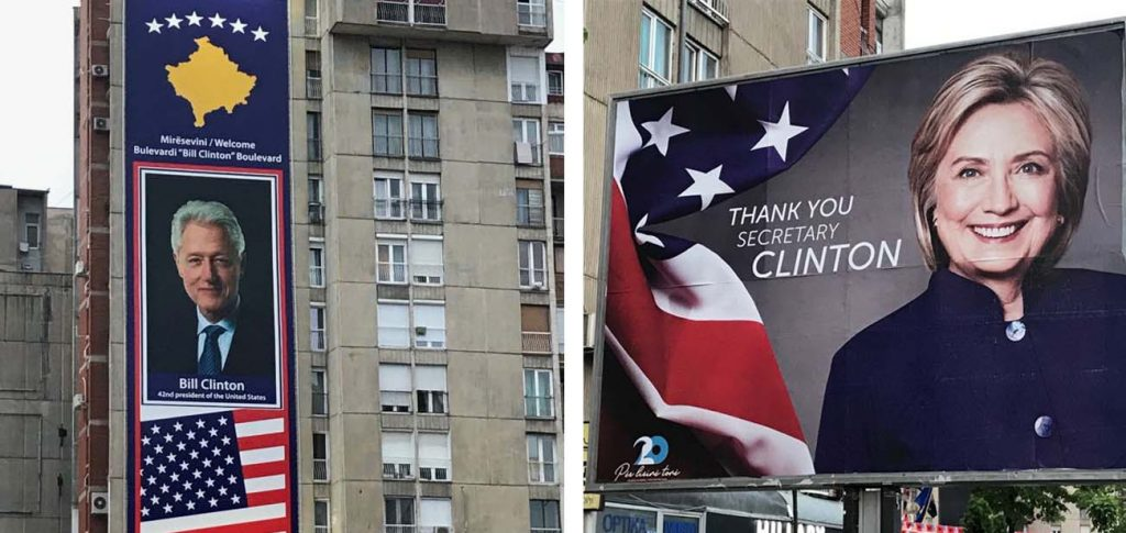 Pristina, Kosovo — No, I don't worship the Clintons. But many people in Kosovo do.