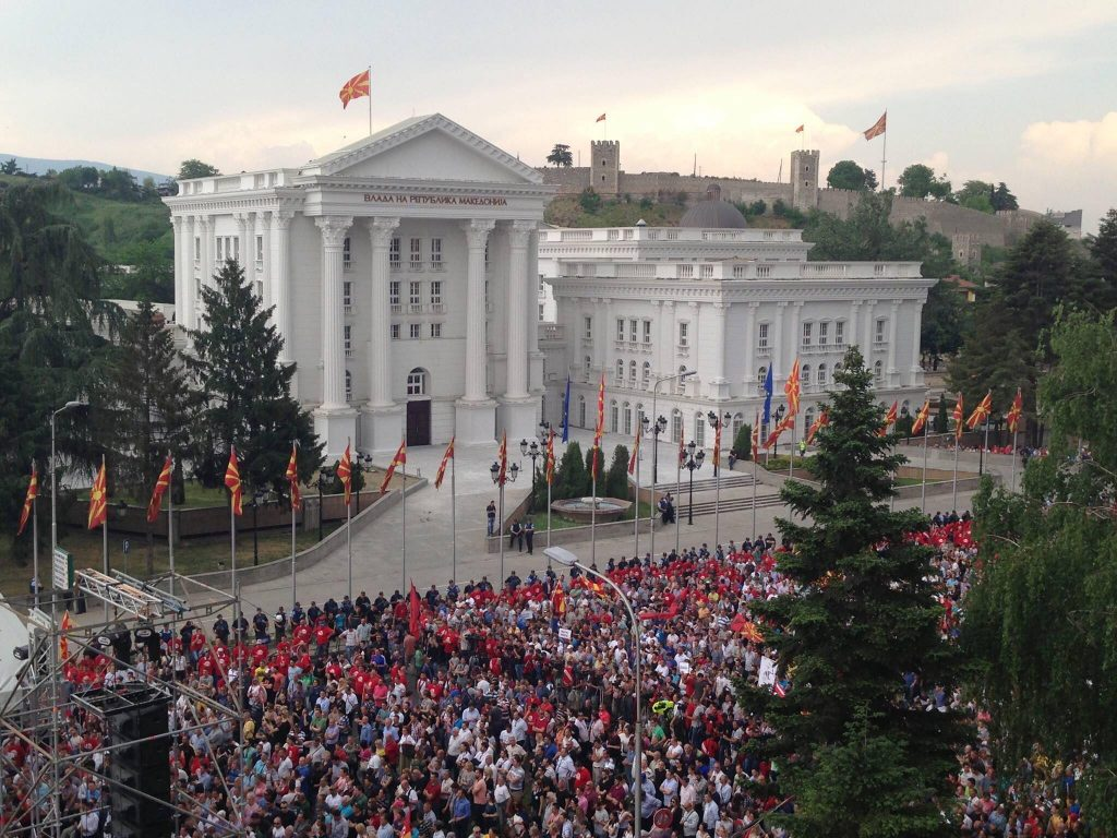May 2015 protest in Skopje, North Macedonia