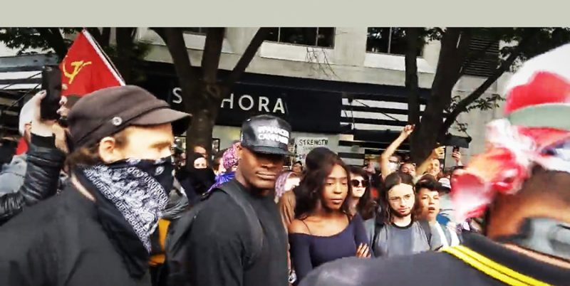 Anti-racist demonstration in Seattle