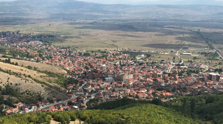 Serbia's Presevo Valley with the city of Presevo in the foreground
