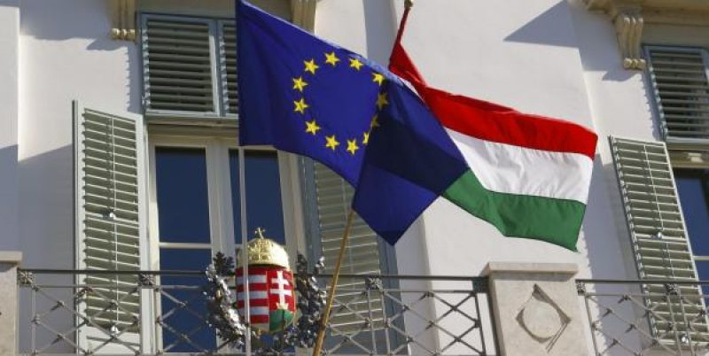 eu hungary flags